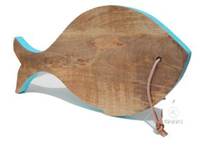Mangoholz Brett Schneidebrett Fisch