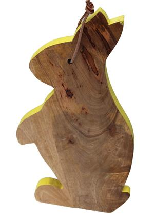 Mangoholz Brett Schneidebrett Hase