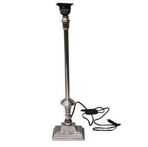 Lampenfuß Nachtisch Tischlampe Landhausstil silber schwer