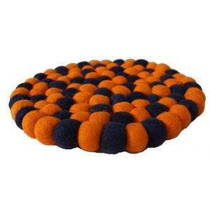 Filz Untersetzer Topf Untersetzer Oranje 20 cm handgefertigt aus reiner Wolle, hitzebeständig