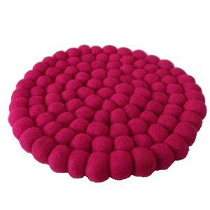 Fairtrade Filz Untersetzer Topf Untersetzer pink 22 cm handgefertigt aus reiner Wolle, hitzebeständig