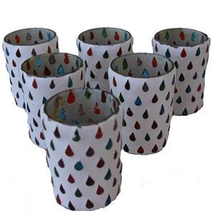Teelichter Marrakesch 6er Set handgefertigt mit Glastropfen multicolor