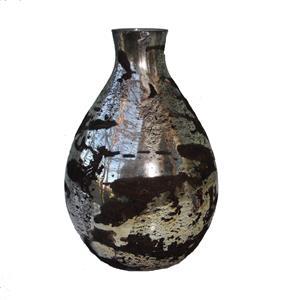 Mundgeblasene Glas Vase goldmetallic braun