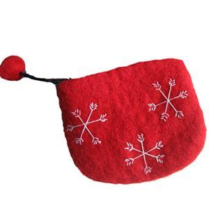 Portemonnaie reine Wolle handgefilzt rot blau flieder