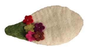 Filzportemonnaies Schminktäschchen Fairtrade freche Früchtchen handgefilzt 3 Farben