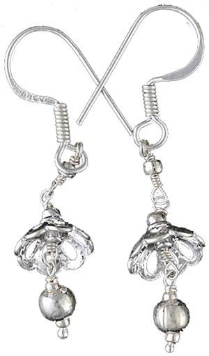 Ohrringe 925er Silber Flower