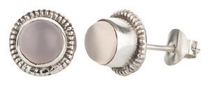 Ohrstecker 925er Silber mit Mondstein handgefertigt