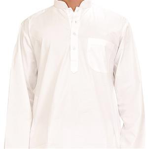 Einfacher weisser traditioneller Kurta Pajama