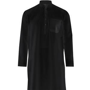 Kurta Pajama Fairtrade schwarz weiß 100% Baumwolle